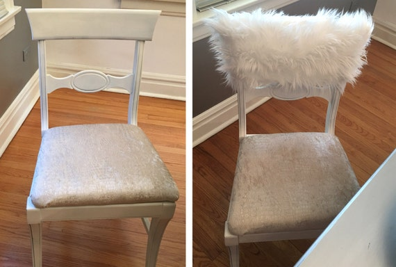 Stupendous White Fur Chiavari Chair Caps Home Decor Style Up Your Dinning Chair Custom Chair Cover Luxury Chair Covers White Fur Chair Cover Theyellowbook Wood Chair Design Ideas Theyellowbookinfo