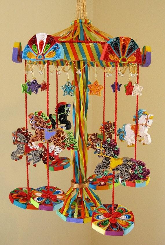 Carousel Crib Mobile Cot Merry, Merry Go Round Baby Bedding