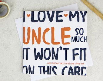 Funny Uncle Personalised Birthday Card
