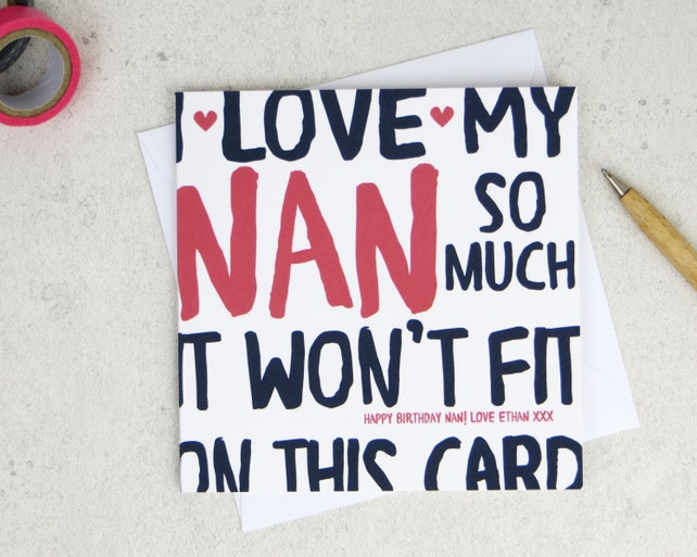 Funny Nan Birthday Card