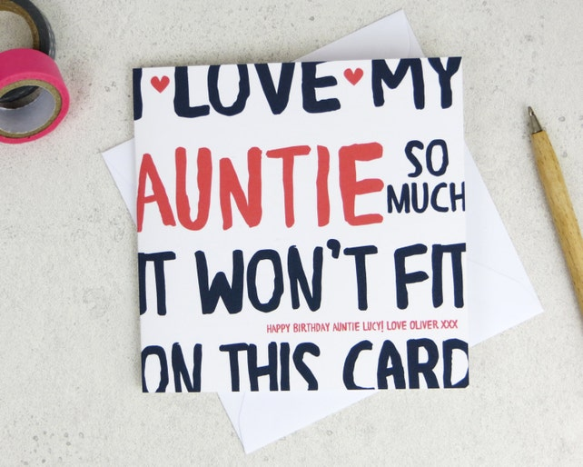 Funny Auntie Birthday Card