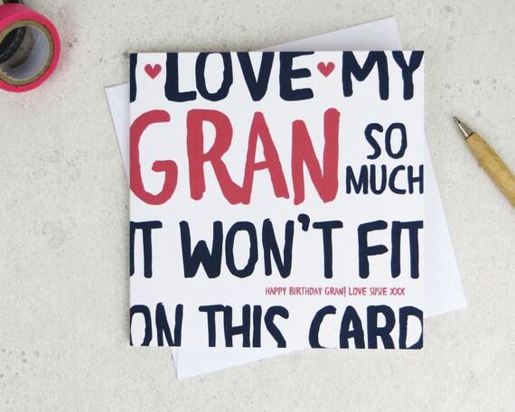Lustige Gran Oma Geburtstagskarte Personalisierte Karte Etsy