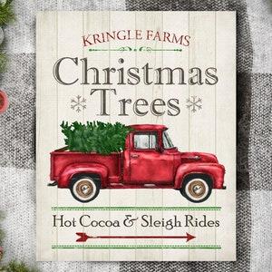 Christmas Print Christmas Decoration Christmas Tree Farm Etsy