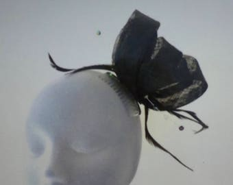 BETHANY Black Fascinator Hat Headpiece Hatinator for Weddings Mother of Bride Ladies Day Royal Ascot Kentucky Derby Dubai Races