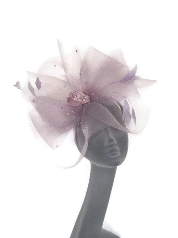 XL Hot Pink Candy Fuchsia Ascot Hat Kentucky  Derby Weddings