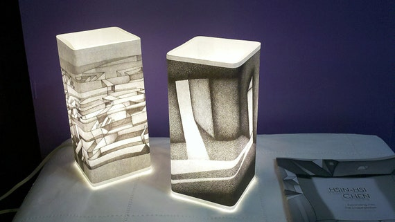 Tavolo Da Disegno Artistico : Artistiche lampade da tavolo scegliere tra stili dal etsy