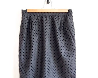 48e48ddf98fd VALENTINO vintage grey mini skirt black dots // Valentino Night