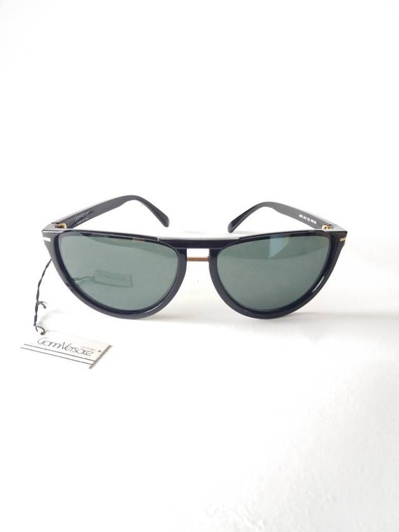 GIANNI VERSACE vintage 90s cat eye black sunglass… - image 2