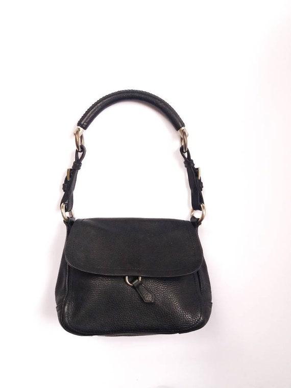PRADA Milano vintage black leather shoulder bag small purse  b0c94145c0935