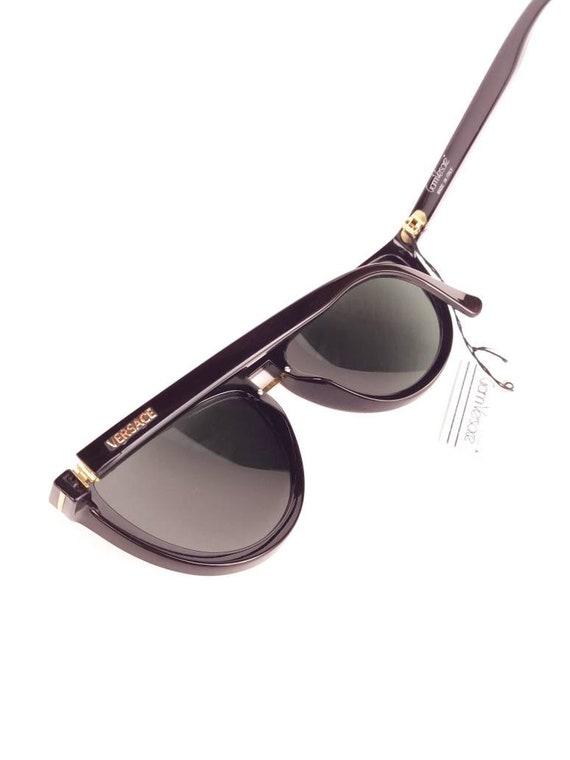 GIANNI VERSACE vintage 90s cat eye black sunglass… - image 6