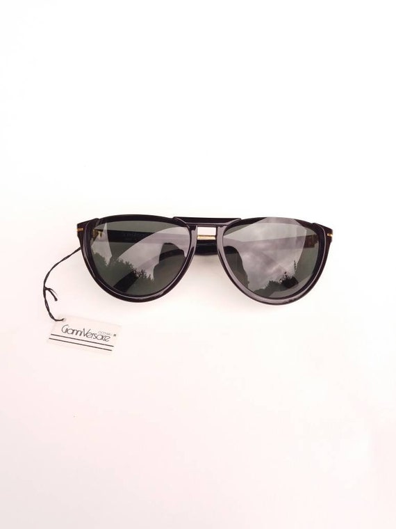 GIANNI VERSACE vintage 90s cat eye black sunglass… - image 7
