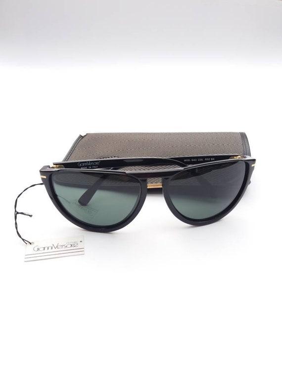 GIANNI VERSACE vintage 90s cat eye black sunglass… - image 5