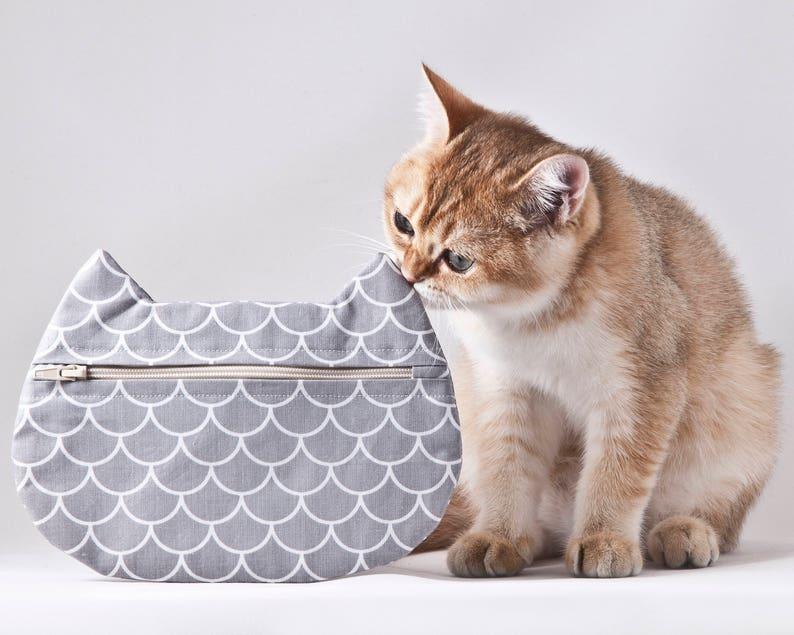 8c094c79f0ba0 Syrenka kosmetyczka kot torba makijaż syrenka prezenty dla | Etsy