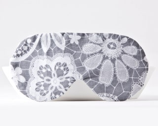 Floral Sleep Mask, Sleepover Party Supplies, Gray Cotton Sleep Mask, Travel Eye Mask, Bachelorette Party Mask, Sleep Mask for Women