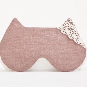 Paisley Sleep Mask for Women Beige Sleep Eye Mask Bachelorette Party Mask Cat Lover Gift Gift for New Mom