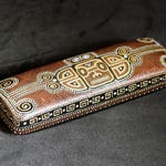 Mayan hard glasses case, Mens eyeglass case, Gift for teacher, Travel accessory, Travel gift, Gift for traveler, Tribal accessories