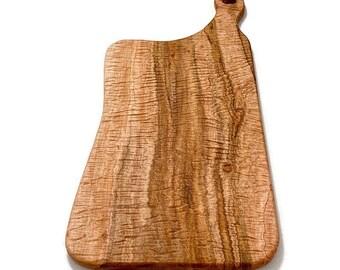 Tiger Ambrosia Maple Wood Charcuterie Board, Wood Serving Board, Large Kitchen Cutting Board