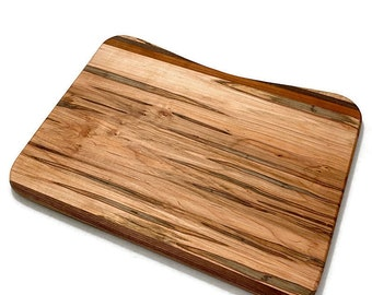 Large Rectangle Multi Wood Cutting Board, Wooden Chopping Board, Rustic Kitchen Serving Tray