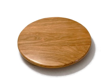 Cherry Wood Lazy Susan, Rustic Cherry Turntable, Table Centerpiece