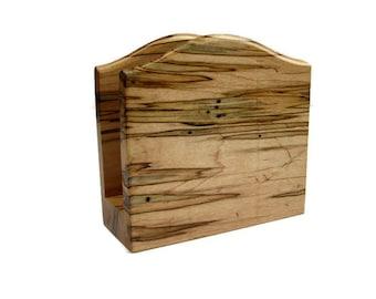 Rustic Maple Wood Napkin Holder, Table Centerpiece, Home Decor