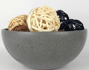 large concrete fruit bowl concrete bowl kitchen bowl modern kitchen decor kitchen