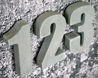 Concrete Address Numbers / Modern House Number / House Number Sign / House Number Plaque / Address Numbers / Number House Address Sign