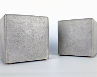 Etonnant Modern Square Concrete Bookends Set Of 2, Heavy Bookends, Office Bookends,  Paper Weight, Kitchen Bookends, Cement Bookends Library, Neutral