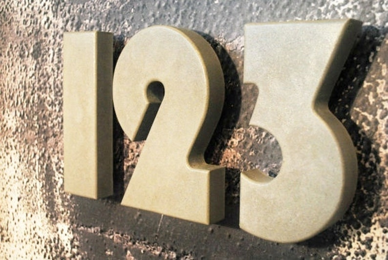 4adac823b0c Concrete Address Numbers Modern House Number House Number