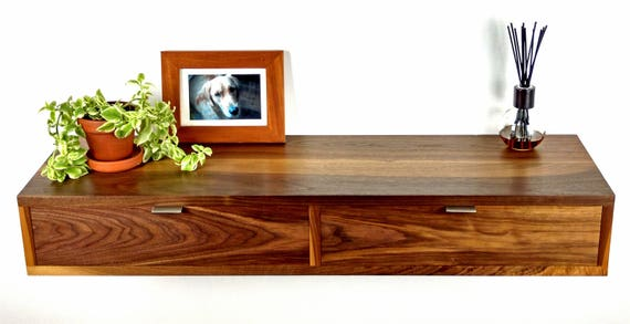 Charmant Wall Mounted Entryway Table, Vanity Table, Entryway Furniture Walnut,  Entrance Table, Modern Floating Entryway Table, Entryway Console Maple