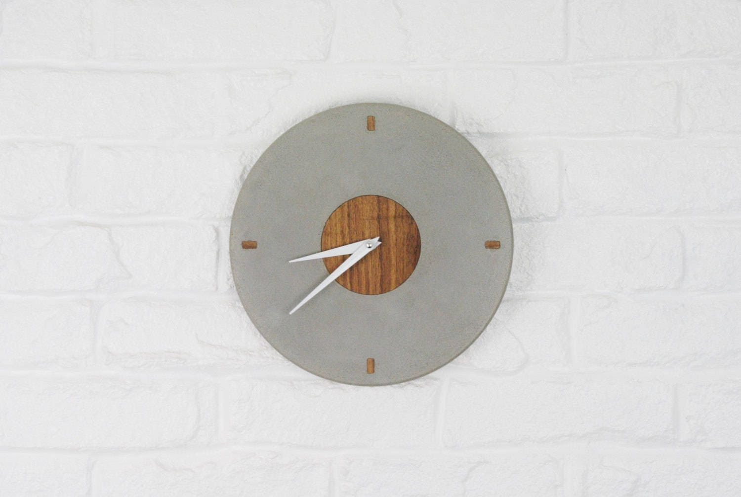 Concrete Clock Clock Wall Wall Clock Modern Kitchen Wall
