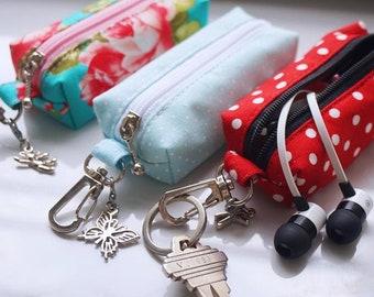 150+ Fabrics Chapstick keychain, Chapstick cozy, Chapstick holder keychain , Lipstick Case Zipper Key Chain, Lip Balm Holder