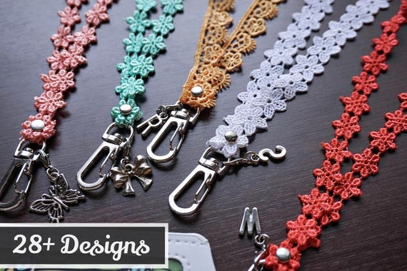 Turquoise and Coral floral lanyard  6d2d51cb7