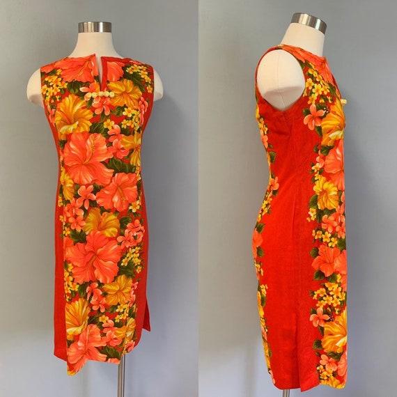 "1950's Vintage ""Take You There"" Hawaiian Dress Siz"