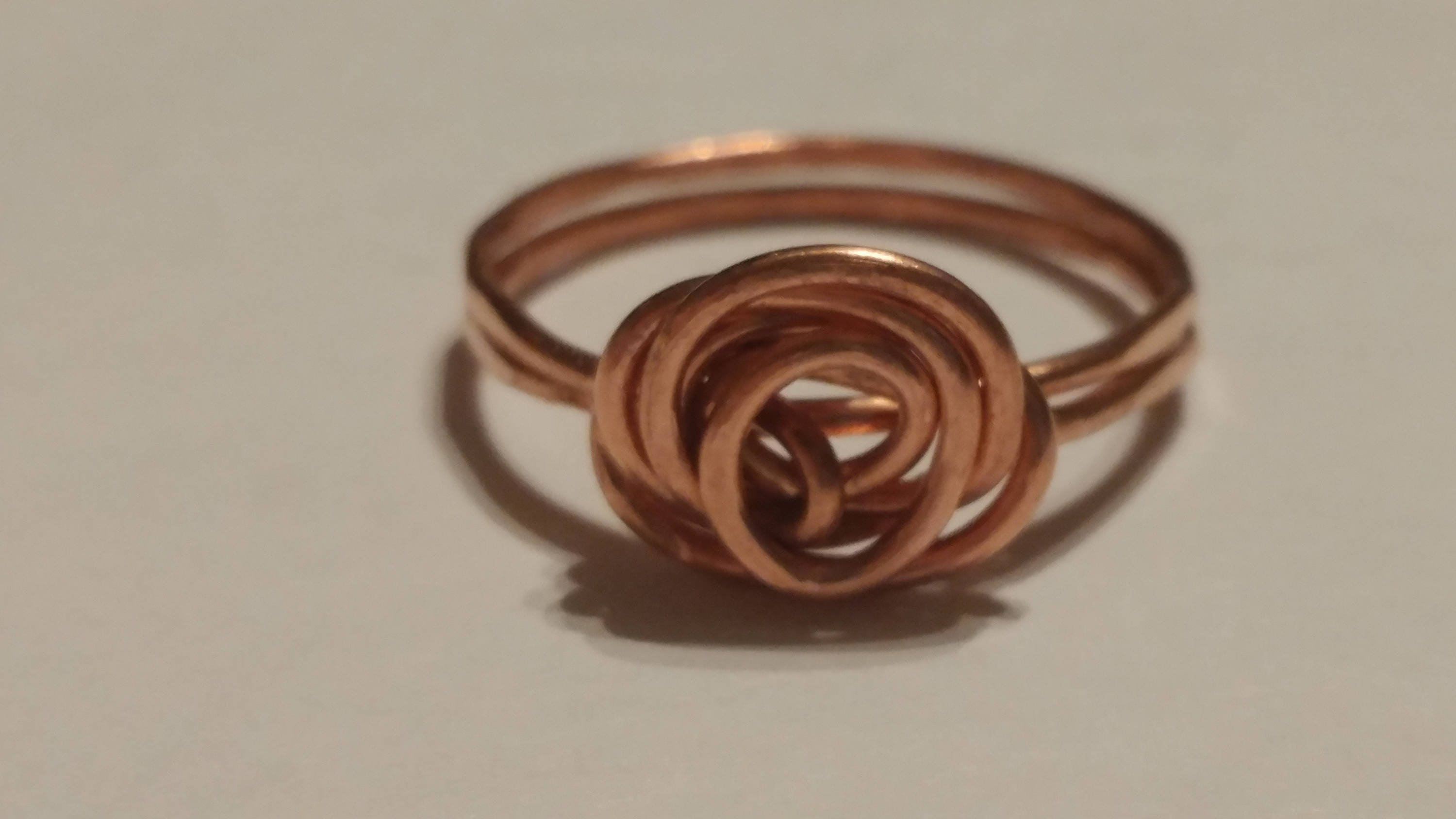 Simple Copper Rings Spiral Rings size 8.5 rings Wire Rings | Etsy