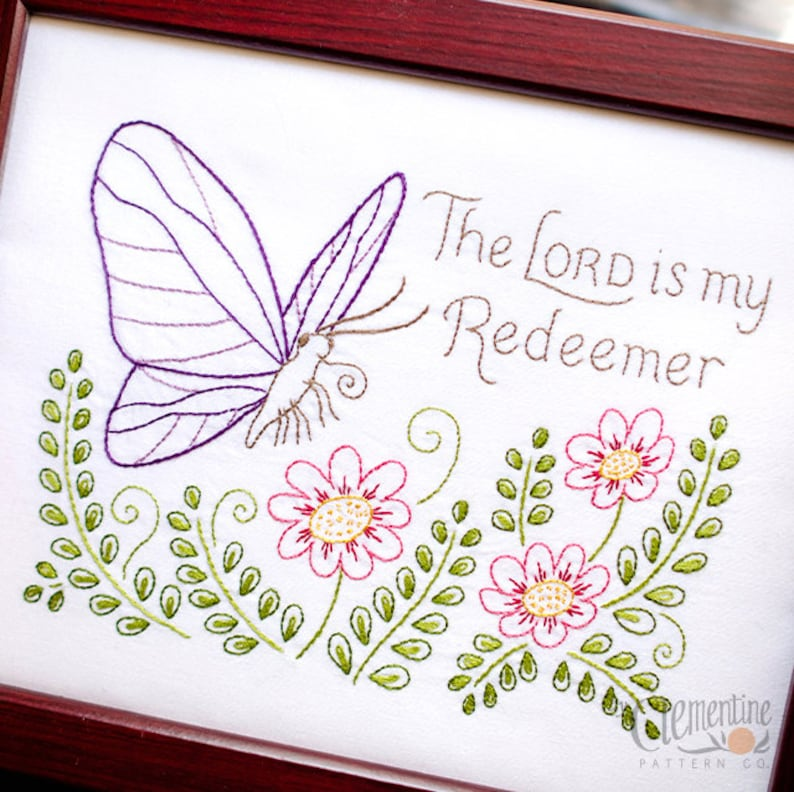My Redeemer  Beginner Sampler Embroidery Pattern with image 0