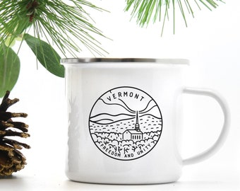 Camp Mug Vermont Gifts Rustic Coffee Outdoorsman Gift For Hiker State Adventure