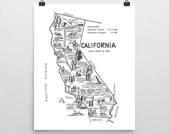 California Wall Art Etsy