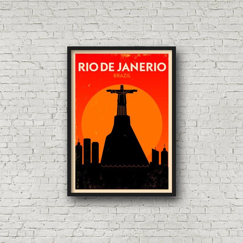 Rio De Janeiro Typography City MULTI CANVAS WALL ART Picture Print