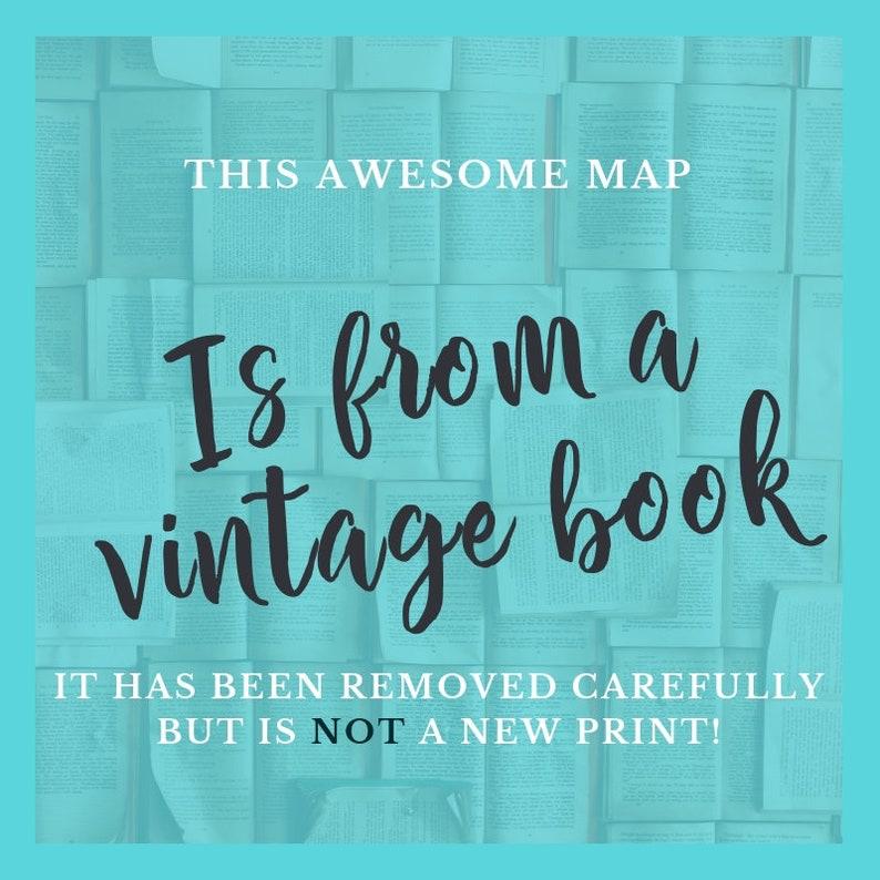 1930s Book Page Travel Wall Art Vintage Alaska Map Illustration Antique Map of Alaska Art