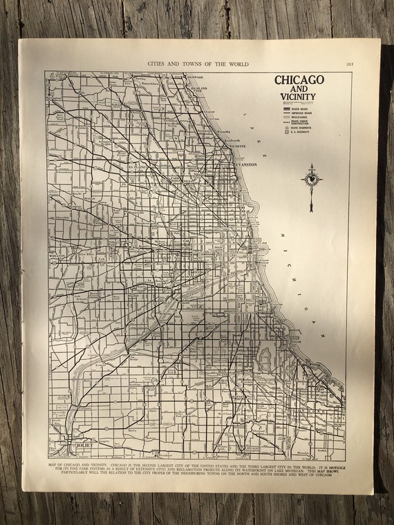 Chicago Wall Map on