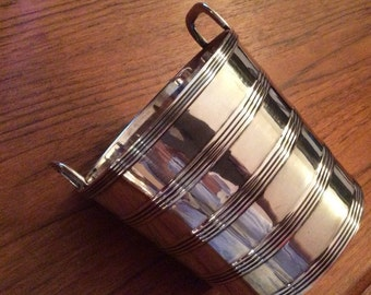 Sold pp VINTAGE BARKER ELLIS Silver Co. Ice bucket pail circa 1912