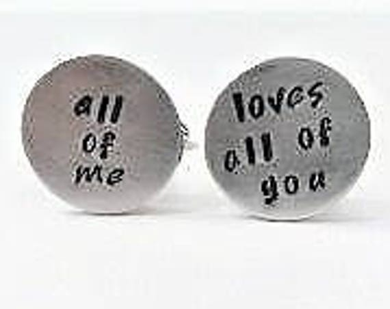 Anniversary gift for him, personalized cuff links, custom cufflinks for him, engraved cuff links, wedding gift for groom from bride stamped