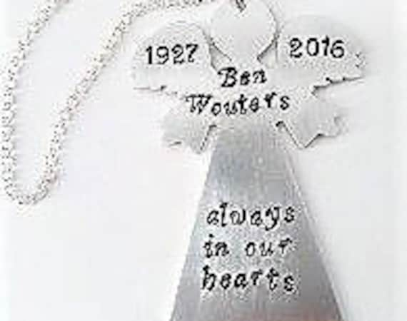 Personalized Memorial Ornament, Angel Ornament, Loved Ones Memorial Ornament, Memorial Angel Keepsake Christmas Ornament Gift, loss of child