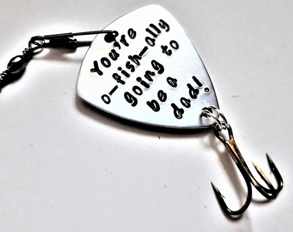 OFishAlly dad lure you're going to be a daddy pregnancy announcement gift for him new baby lure personalized hook officially expecting birth