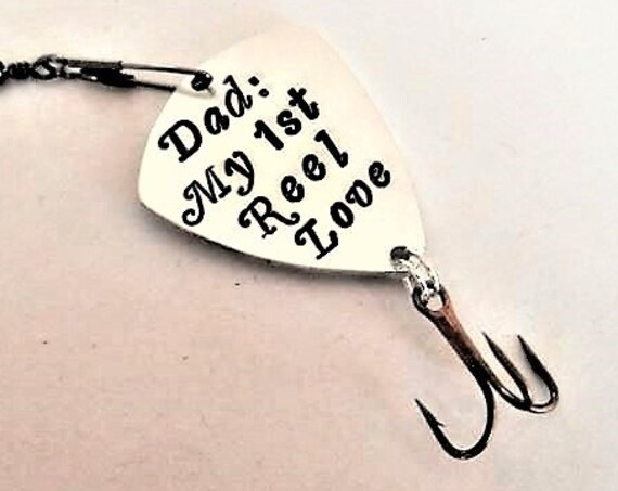 Dad fishing gifts my 1st reel love first real love unique gift for him personalized fishing lure custom fishing hook Happy Fathers Day men