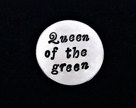 Golf Ball Marker personalized Golf Marker, Queen of the green gift for her, golfing sister, wife gift engraved gift, golfist accessories