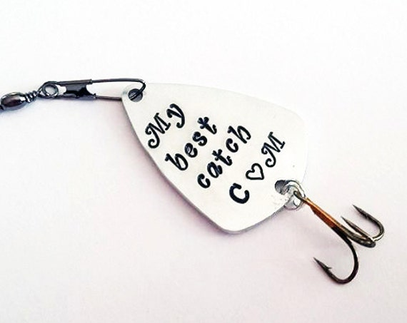 My best catch fishing lure, Custom Personalized Initials Fishing Lure, Guitar pick Fishing Lure Gift, Fishing lovers gift, Engraved For Him