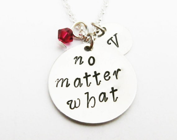 no matter what necklace initial necklace long distance personalized jewelry gift for best friend jewelry friendship bff necklace birthstone