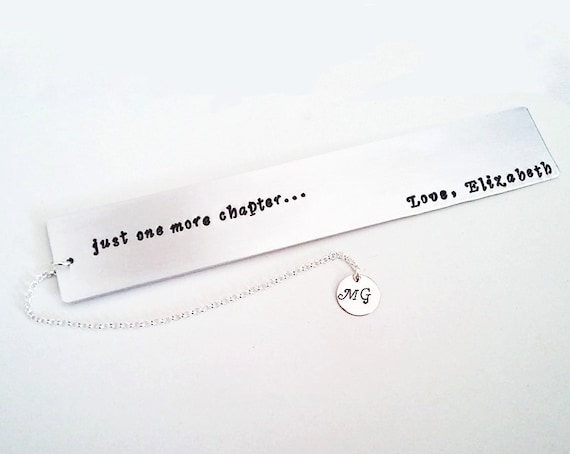 Personalized Bookmark, Hand Stamped Bookmark, Teacher's Appreciation, Hand Crafted Gift for Teacher, Custom Aluminum Bookmark thank you gift