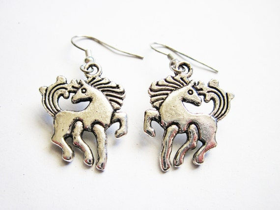 Unicorn Earrings, Horse Earrings, Unicorn Jewelry, Horse Jewelry, Pony Earrings, Equestrian Earrings, Equine Earrings, Fairy Tales Earrings